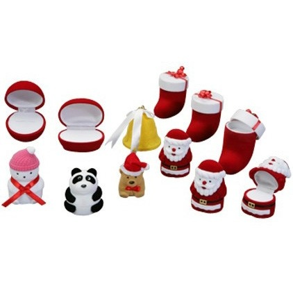 """""""occasions"""" Christmas Ornament Ring Slot Box In Assorted Shapes And Colors"""