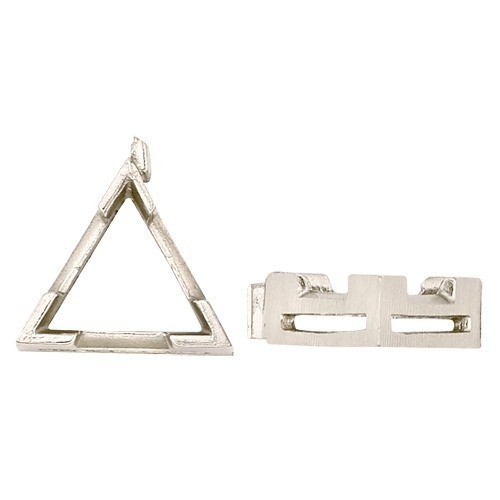 14K White V-End Triangle Setting W/ Airline