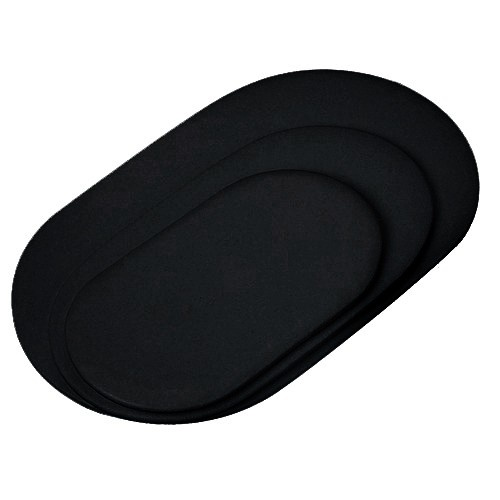 """Oval Pad- 5.0""""X9.0"""" Black"""
