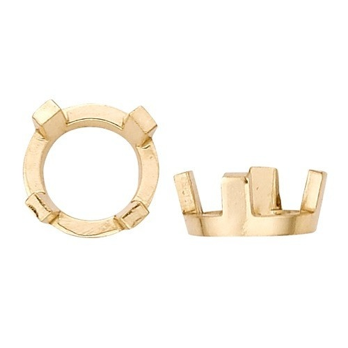 14K Yellow Round 4-Prong Low-Low Setting