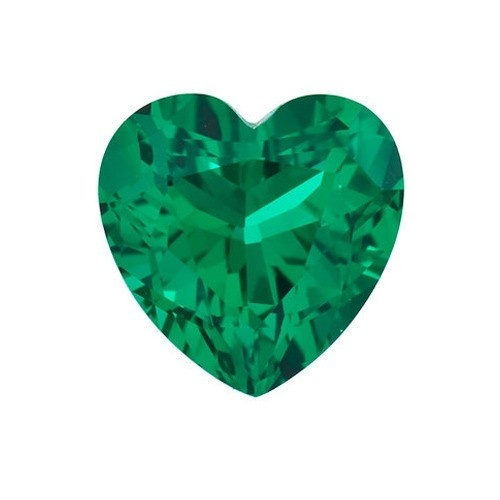 Heart Shape Synthetic Emerald