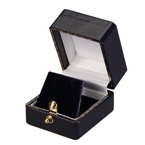 """""""Heirloom"""" Leatherette Square Stud Earring Or Pendant Box In Assorted Colors"""