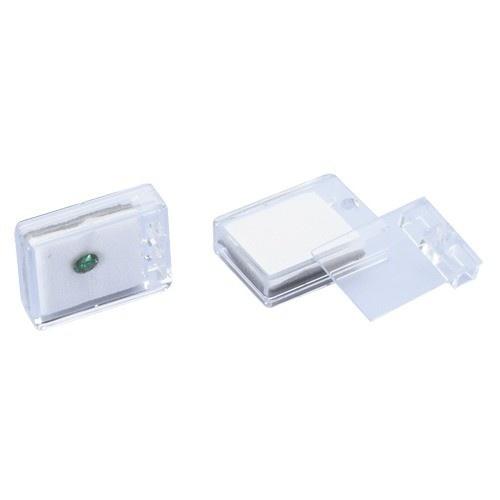 "Acrylic Gem Boxes W/reversible Flat-foam Inserts, 3"" L X 1.5"" W"