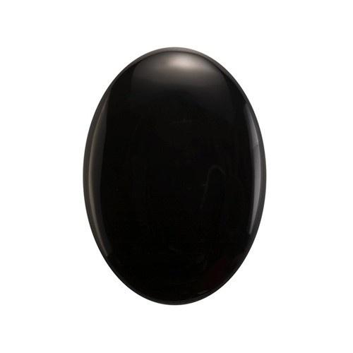 Oval Flat Back Onyx