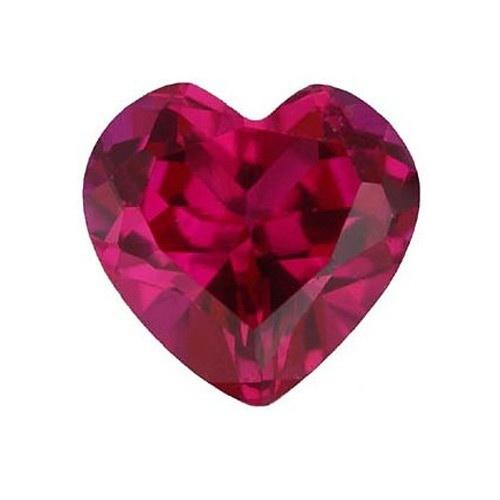 Heart Shape Synthetic Ruby