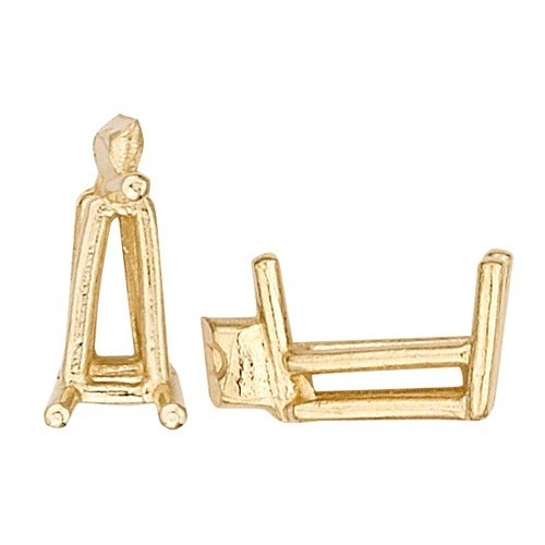 14K Yellow Tapered Wire Baguette Setting