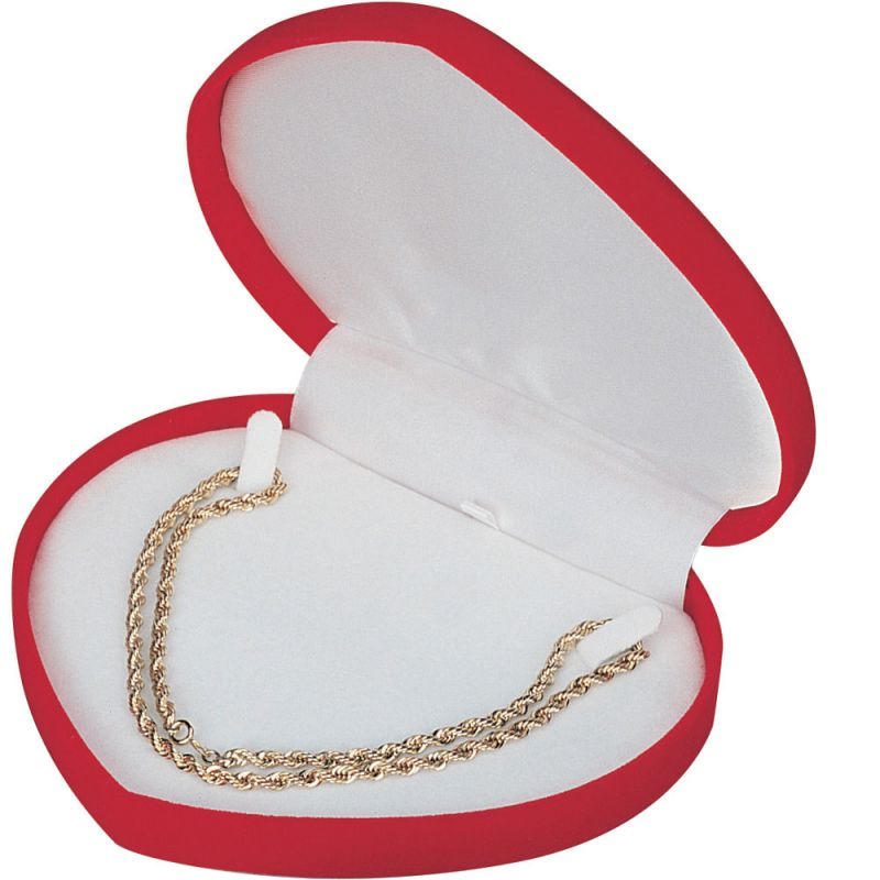 """""""occasions"""" Valentine's Day Necklace Box In Red Velvet"""