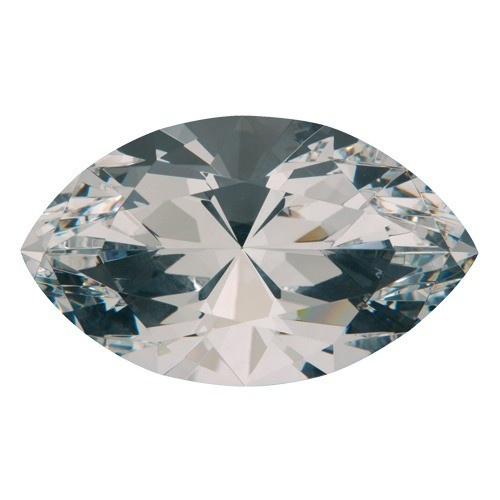 """Marquise-Shaped Clear Glass Crystals, 3.94"""" L X 2.36"""" w"""