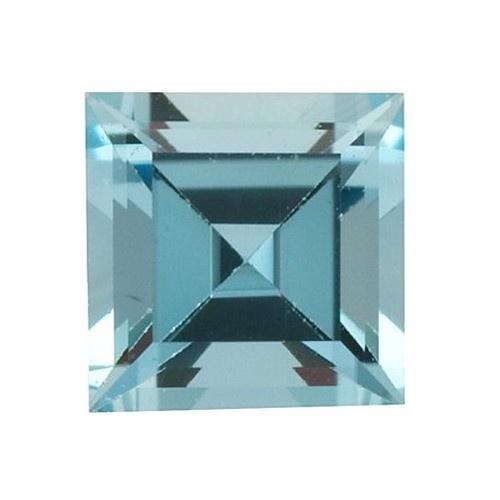 Square Synthetic Aquamarine