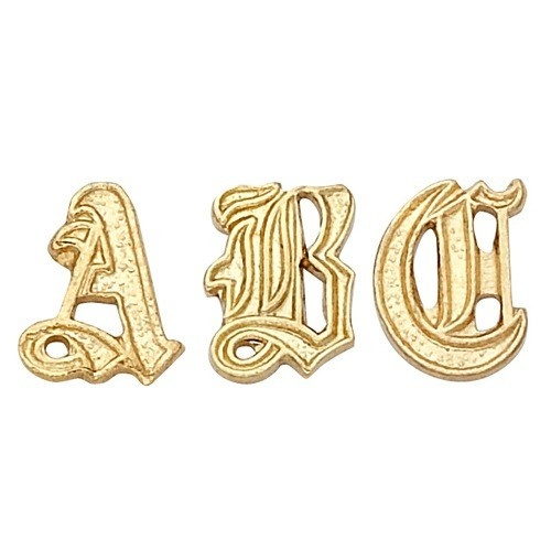 14K Yellow 6.25 Mm Old English Initial