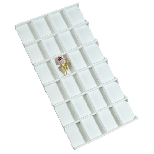 """24-Compartment Inserts For Full-Size Utility Trays, 14.13"""" L X 7.63"""" w"""