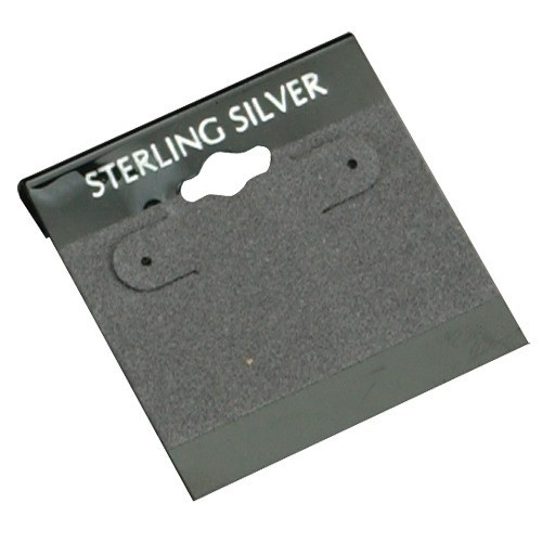 """Flocked Gray 'sterling Silver' Hanging Display Cards For Hoop (pk/200), 2"""" L X 2"""" W"""