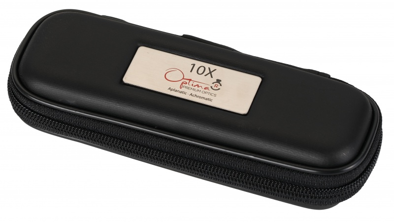 Optima 10X Premium Optics Diamond Dealers Loupe - Black