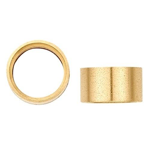 14K Yellow Gold Round Straight Bezel