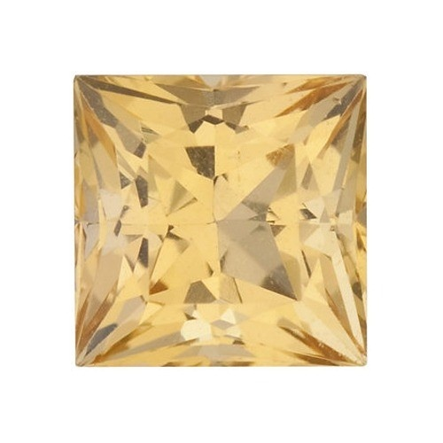 Square Synthetic Yellow Topaz