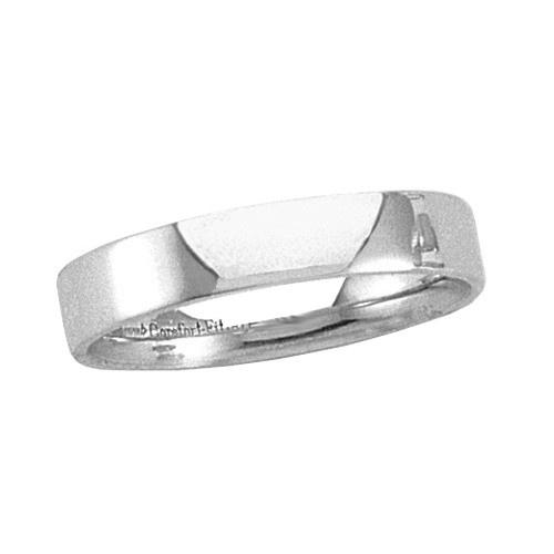 Platinum Flat Band 4 Mm
