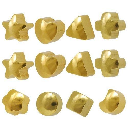 Caflon R-513-Y Ear Piercing Studs 7 Shapes Yellow