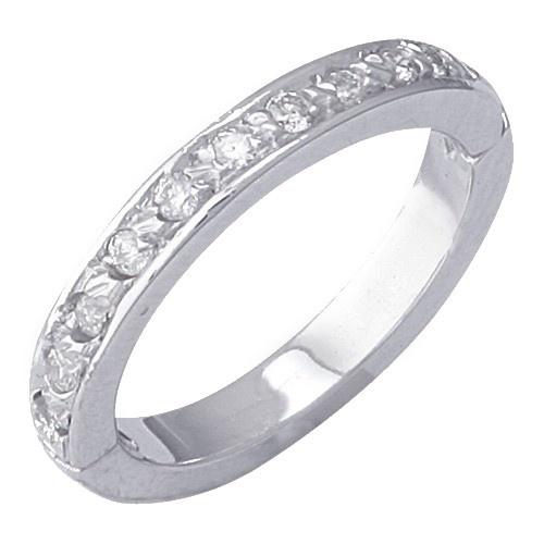 14K White Gold Diamond Toe Ring