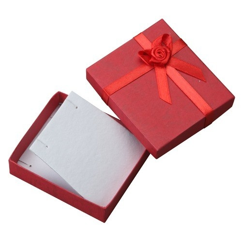 Ribbon Collection Floral Detail Pendant Box In Assorted Colors