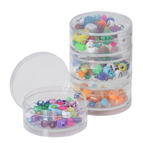 """Stackable Boxes- 2.65"""" Round Pack-of-4pcs"""