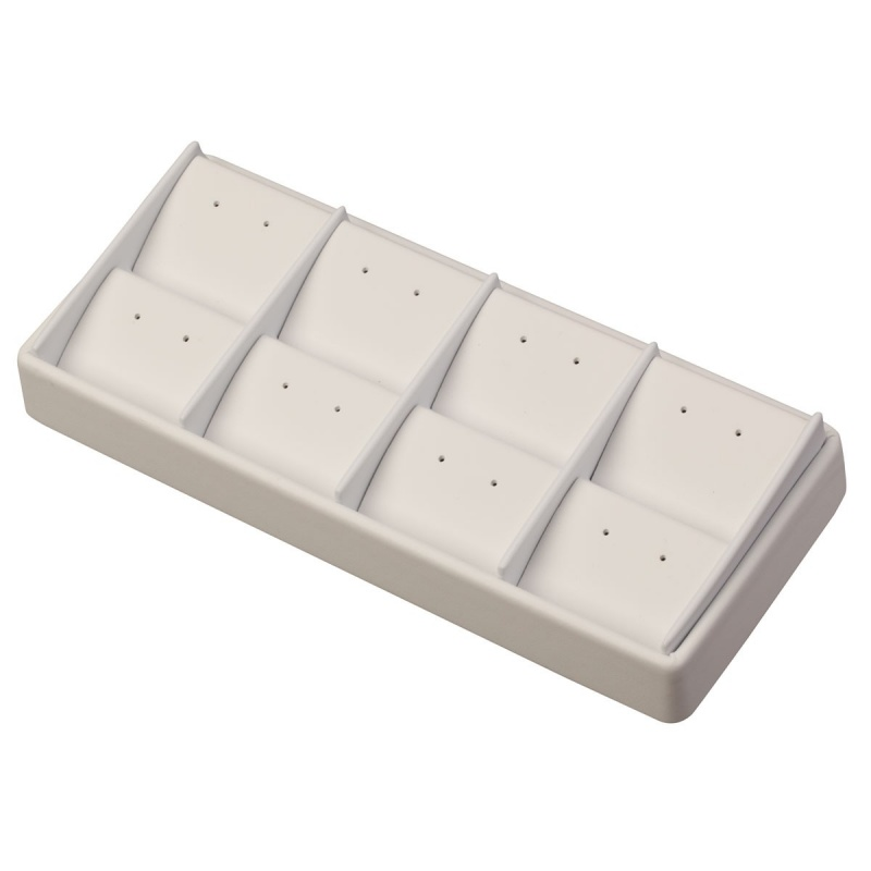 """8-Pair Stackable Stud Or Drop Earring Trays, 8.5"""" L X 3.5"""" w"""