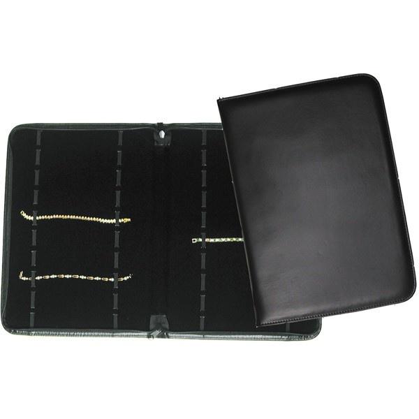 20 Watch / Bracelet Folder- Black Leatherette W/ Foam Pad Insert