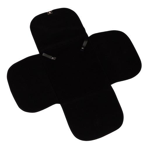 Travel Folders For Necklaces In Black Velvet W/Black Interiors & Silver Trim, 7 X 7.5 In