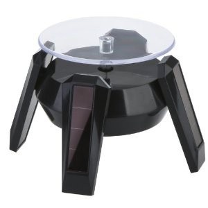 """Solar Or Battery-Powered Turntables W/4 Blue Leds, 3.85"""" w"""