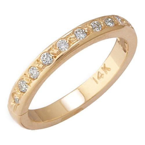 14K Yellow Gold Diamond Toe Ring