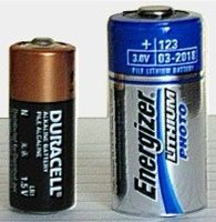 Set Of Two Lithium 123 Batteries