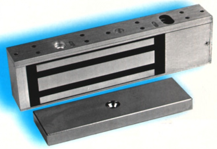 24vdc Low-cost Magnetic Opener. (us28 Finish-nat. Alum.) Use With Optional Model# 21031 Bracket For Inswinging Doors.
