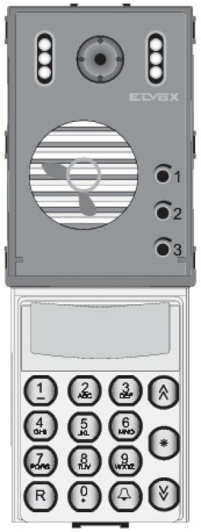 Digibus A/v Keypad For Ss Panl. Stainless Steel Finish W/electronic Directory.