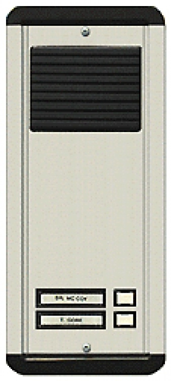 2 Plast Butt L/s Panel-flsh-al. Requires Oh600 Flush Housing. Standard Type With Plastic Pushbuttons And Plastic Grille.
