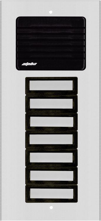 7 Plast Button L/s Panel-alum.. Requires Oh600 Flush Housing Or Oh600s Surface Housing Plastic Pushbuttons And Grille.