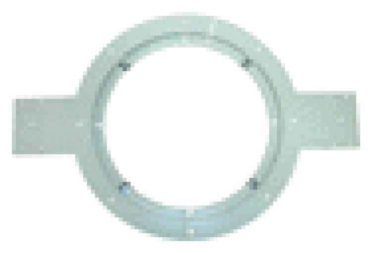 "Speaker Mtg Ring-8""-Plas.+Tabs. Same As Ih008 Mtg. But Has (2) Additional Side Mounting Flanges"