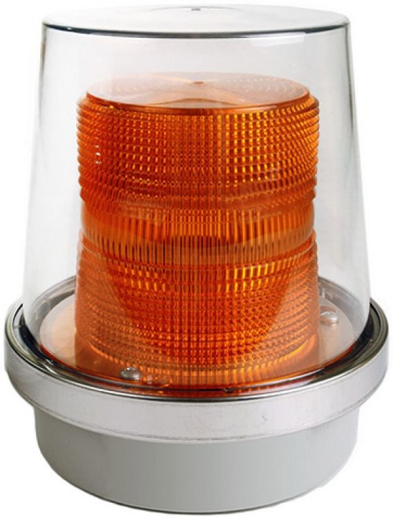 120Vac Flashg Beac-W/Cov-Amber. Can Be Used Indoors Or Outdoors