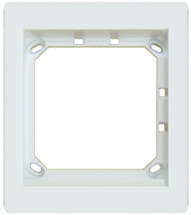 1hx1w Module Panel Frame-white. Requires Upg1 Flush Box Or Apg1w Surface Box Includes 1 Mvrw Locking Strip.