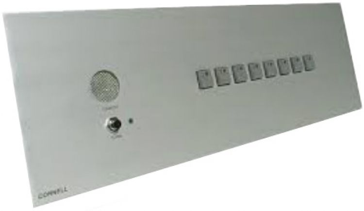 8 Zone Master Door Mon. Panel. Requires Bb-21 Flush Back Box Or Se 20 21 Desk Housing Uses P-512241a Power Supply.