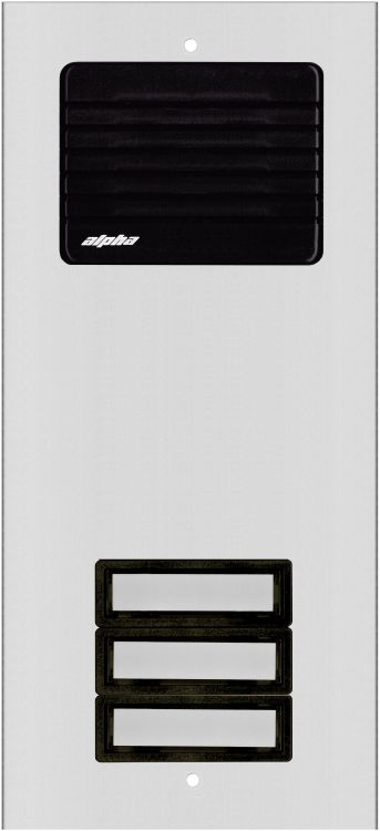3 Plast Button L/s Panel-alum.. Requires Oh600 Flush Housing Or Oh600s Surface Housing Plastic Pushbuttons And Grille.
