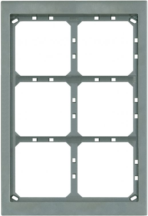 3hx2w Module Panel Frame-titan. Requires Upg6/2 Flush Box Or Apg6/2t Surface Box Includes 6 Mvrt Locking Strips.