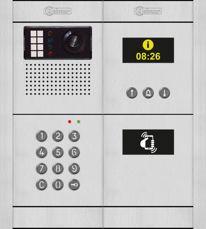 G2+ Dig Ent Panel-alum-flu+nfc. Comes With Flush Back Boxes Keypad Module And Navigation Module And Camera/speaker/mic..