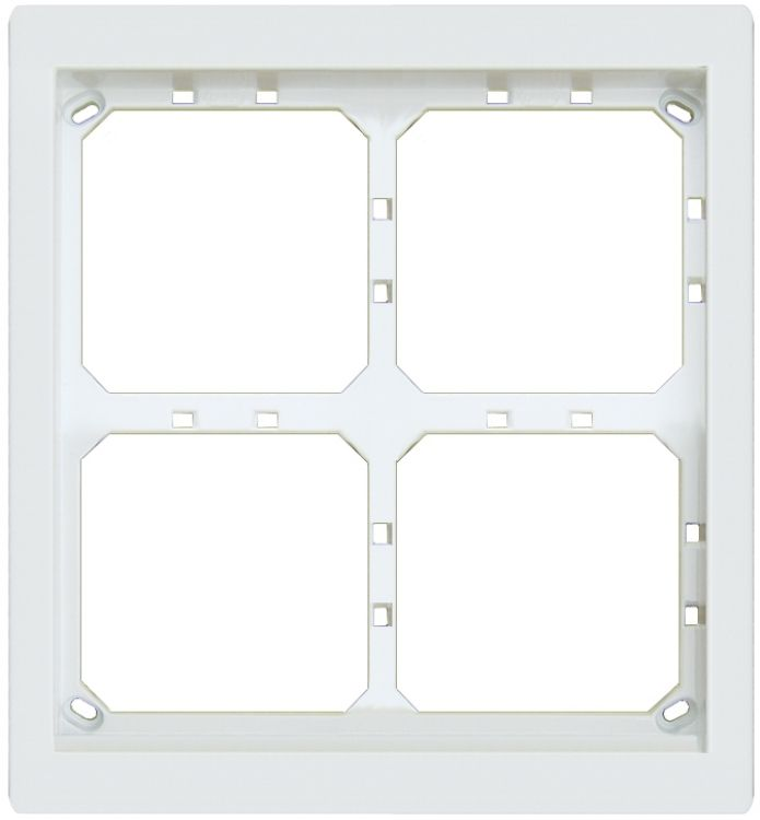 2hx2w Module Panel Frame-white. Requires Upg4/2 Flush Box Or Apg4/2w Surface Box Includes 4 Mvrw Locking Strips.