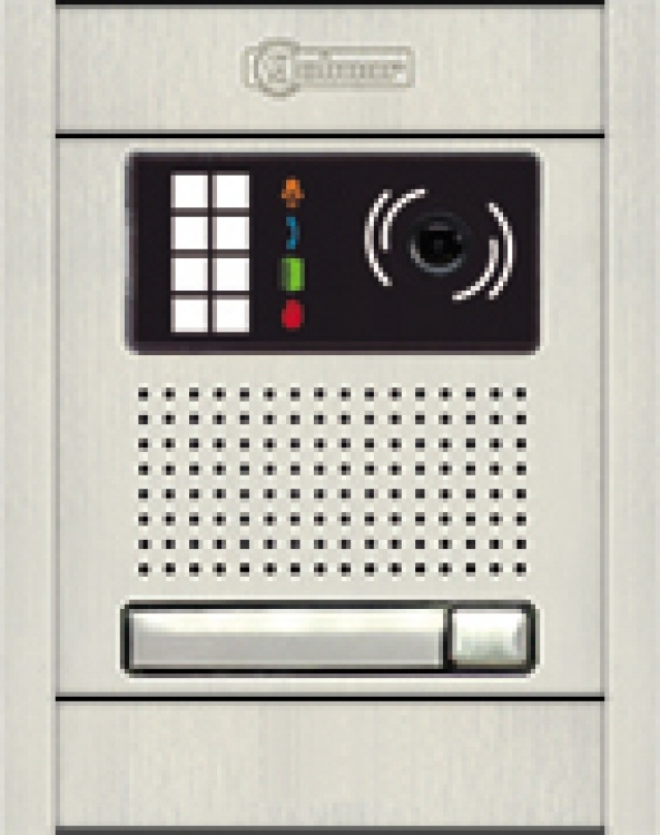 G2+ Ent Panel-1butt-alum-flush. Requires 1- Dpm-g2 For Systems With 2 To 4 Entry Door Stations.