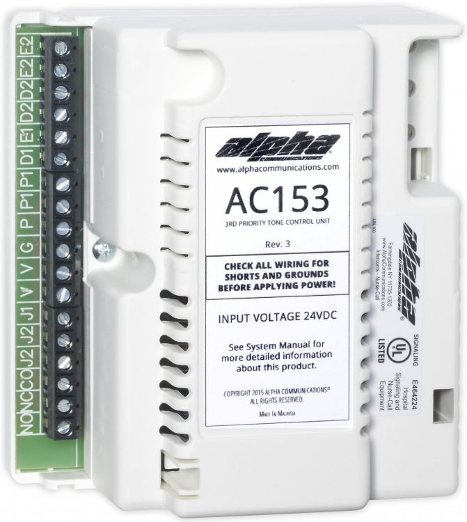 Alphalinq™ 100 Series 3Rd Priority Tone Controller Unit. Adds 3Rd Priority Level To An Ac152-Powered System. One (1) Required Per System