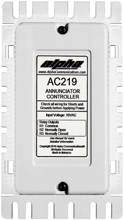 Annunciator Controller--w/tone. Used With Cm800 / Ds100 And Alphaecall Systems. Requires T1640 Or Ss106 Transformer.