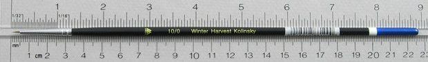 Winter Harvest Kolinsky Sable: Long Hair Round Size 10/0 Brush