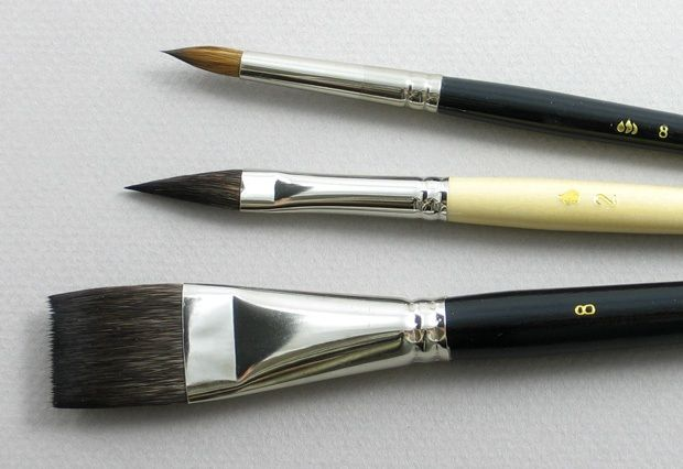 Trinity Brush Artist Set of 3 Art Brushes