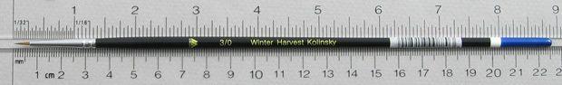 Winter Harvest Kolinsky Sable: Long Hair Round Size 3/0 Brush