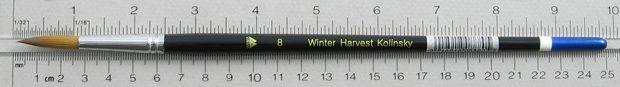 Winter Harvest Kolinsky Sable: Long Hair Round Size 8 Brush