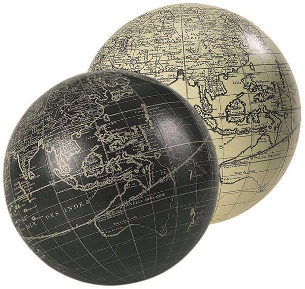 Vaugondy Sphere, Ivory, 14Cm